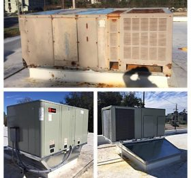 10 Ton Rooftop Replacement Before & After